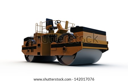 compactor isolated on white background - stock photo