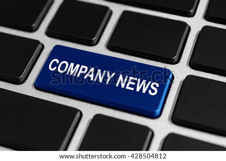 company news button on keyboard, business concept - stock photo