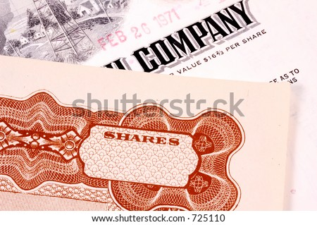 Company Stock Certificates - stock photo