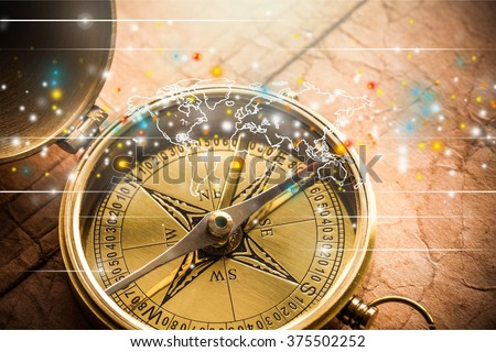 Compass. - stock photo