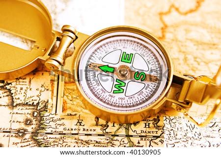 Compass.  - stock photo
