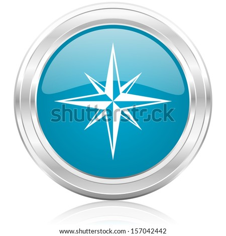 compass icon  - stock photo