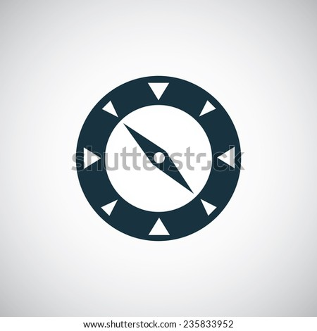 compass icon on white background  - stock photo