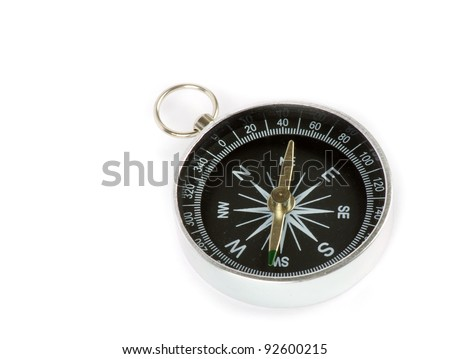 Compass isolated on the white