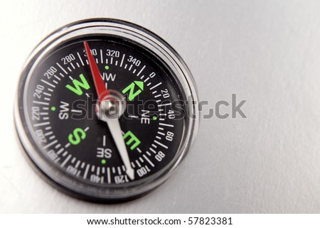 Compass on plain background - stock photo