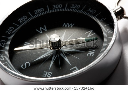 Compass on the white background - stock photo