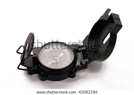 Compass on white backgrounds - stock photo