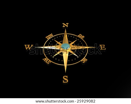 Compass Rose (Gold)