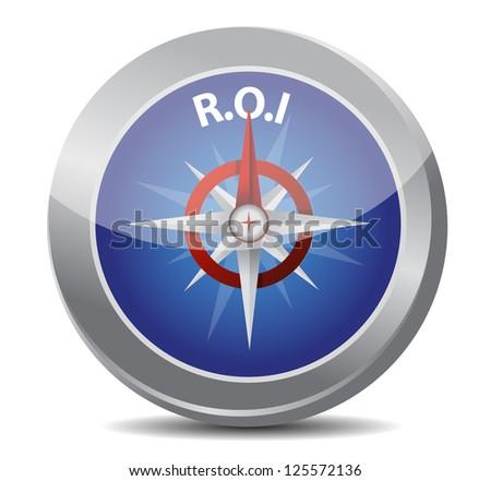 compass symbol return on investment illustration design - stock photo