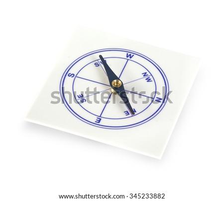 compass training on white background - stock photo