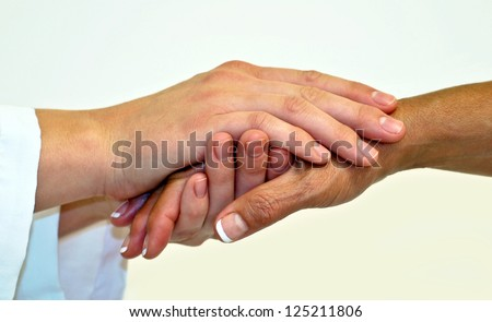 Compassionate hands - stock photo