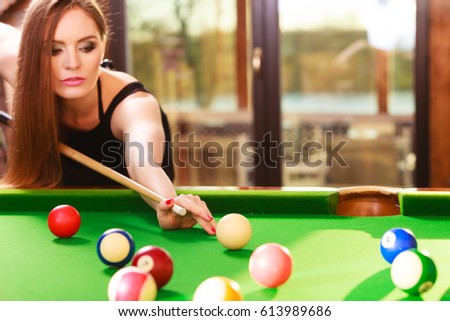 three ladies are playing billiards and having unforgettable threesome  24101