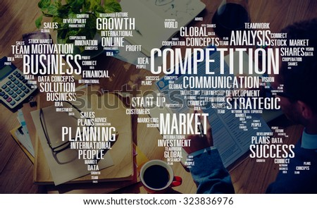 Competition Market Global Challenge Contest Concept - stock photo