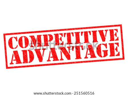 COMPETITIVE ADVANTAGE red Rubber Stamp over a white background. - stock photo