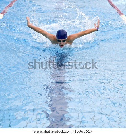 Competitive Swimmer - stock photo