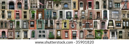 Compilation of windows (New York, America)