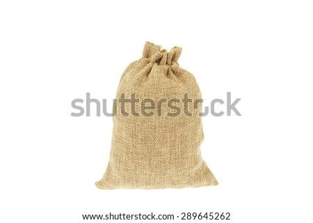 Complete pouch isolated on a white background