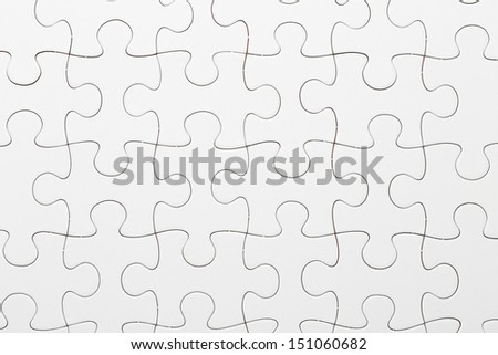 Complete puzzle - stock photo
