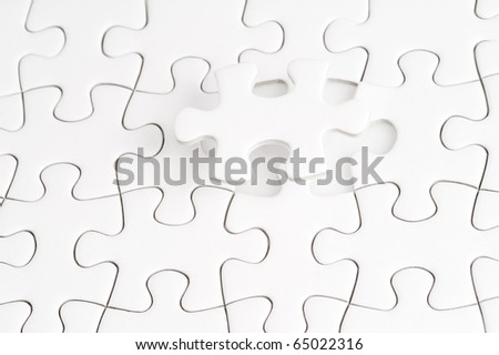 Complete the missing puzzle piece, business concept for completing the final puzzle piece - stock photo