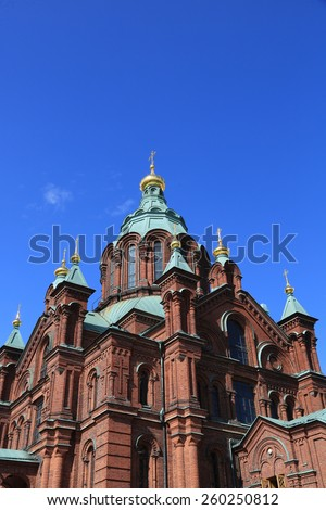 Completed in 1868 in the Katajanokka district of Helsinki, the Uspenski Cathedral is the largest orthodox church in Western Europe.