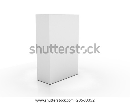 completely clear box on a slightly reflecting plane - stock photo