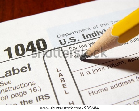 completing a federal income tax form