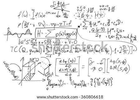 Complex Math Formulas On Whiteboard Mathematics Stock Illustration