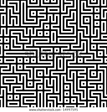 complex maze, seamless texture - stock photo
