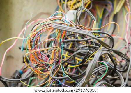 Complexity communication wires - stock photo