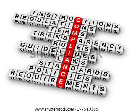 compliance crossword puzzle - stock photo