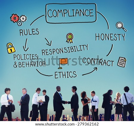 Compliance Rules Responsibility Legal Agreement Concept - stock photo