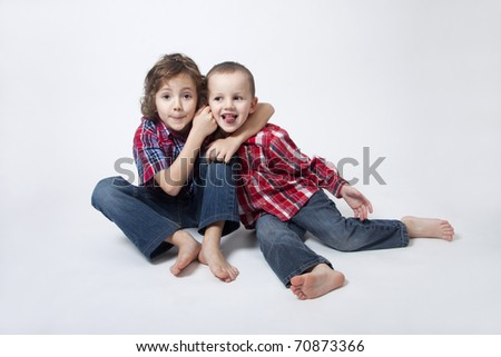 Complicated brothers relationship - stock photo
