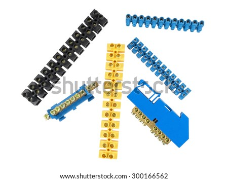 Components for use in electrical installations - stock photo