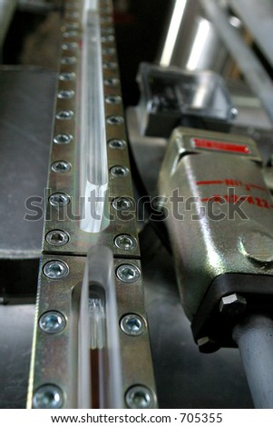 components from industrial factory - stock photo
