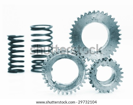Components of mechanism. - stock photo
