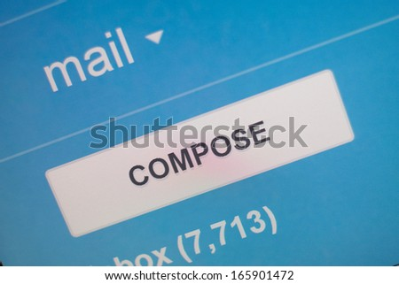 Compose new email message screen. - stock photo