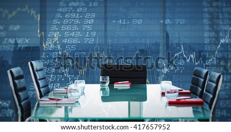 Composite image of boardroom on a building - stock photo