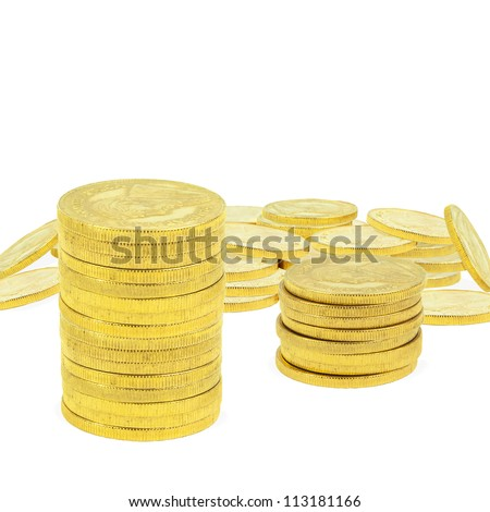composite image of 1 ounce gold coins - stock photo