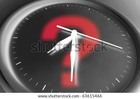 Composite of Clock and Question Mark