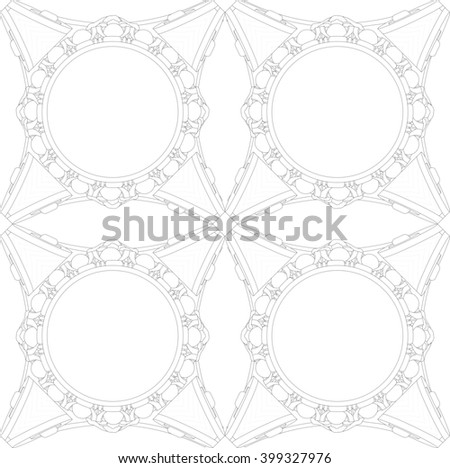 composition based on the capitals of the Ionic order plan - stock photo