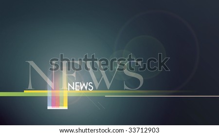 Composition design of colorful NEWS background. - stock photo