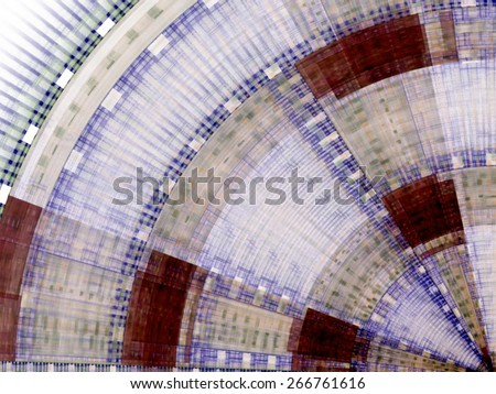 Composition of abstract radial grid and lights as a concept metaphor for technology, science and entertainment - stock photo