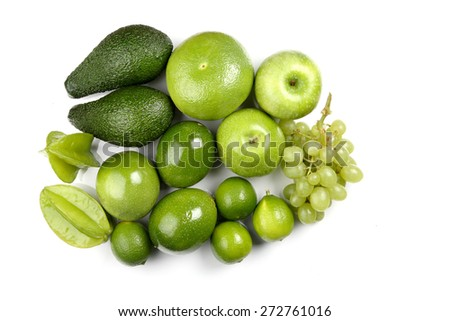 Composition of citrus fruits - stock photo