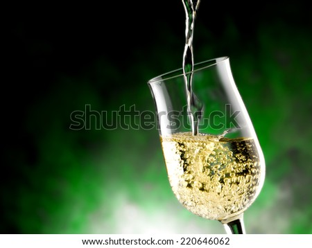 composition of glasses of wine - stock photo