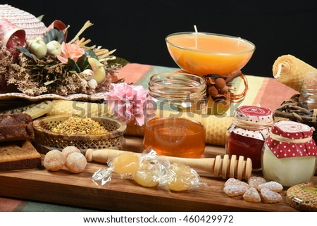 composition of honey products