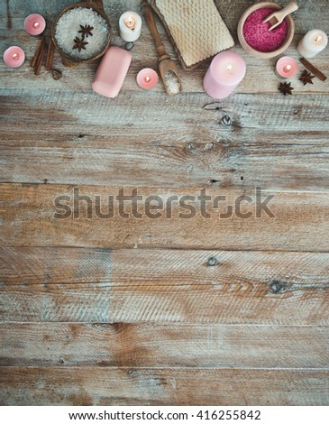 Composition of spa treatment  - stock photo