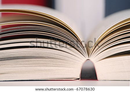 Composition with books - stock photo