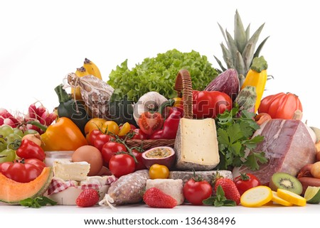 composition with groceries - stock photo
