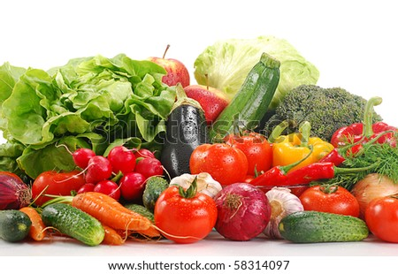 Composition with raw vegetables - stock photo