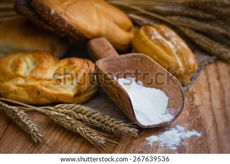 Composition with white bread